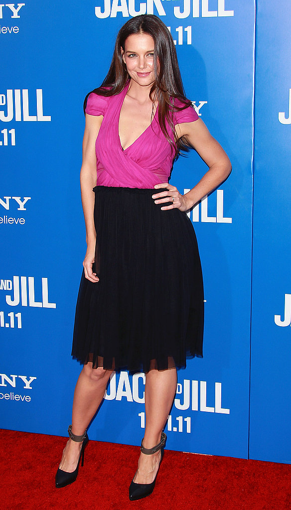Katie Holmes attended the LA premiere of Jack and Jill.