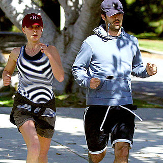 Natalie Portman and Benjamin Millepied Running Together Pictures