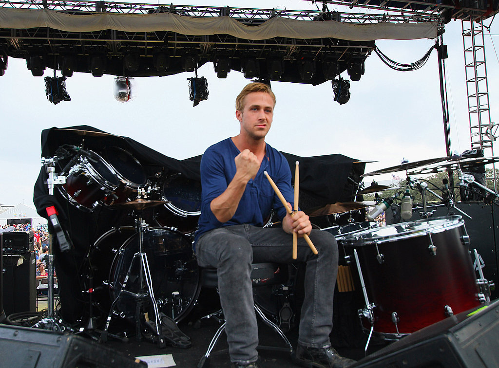 Ryan Gosling sat on stage at Fun Fun Fun Fest.