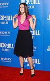 Katie Holmes couldn't help but laugh at the LA premiere of Jack and Jill.