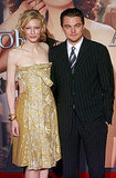 At the 2005 premiere of The Aviator in Rome, Leonardo DiCaprio posed in pinstripes with a gold-clad Cate Blanchett.
