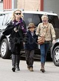 Reese Witherspoon out in LA with Ava and Deacon.