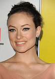 Olivia Wilde swept her hair up for a red carpet event.