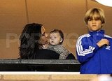 Victoria Beckham looked after her children Harper and Romeo.
