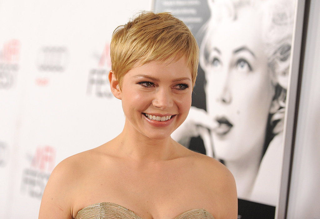 Michelle Williams smiled at an LA screening of her new film.