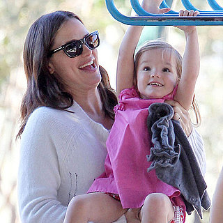 Jennifer Garner and Seraphina Affleck at Park Pictures