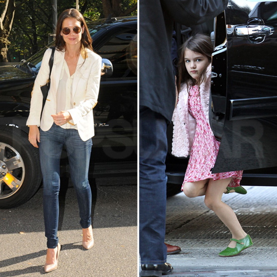 Katie Heads to Work While Suri Goes Sightseeing Around the Big Apple