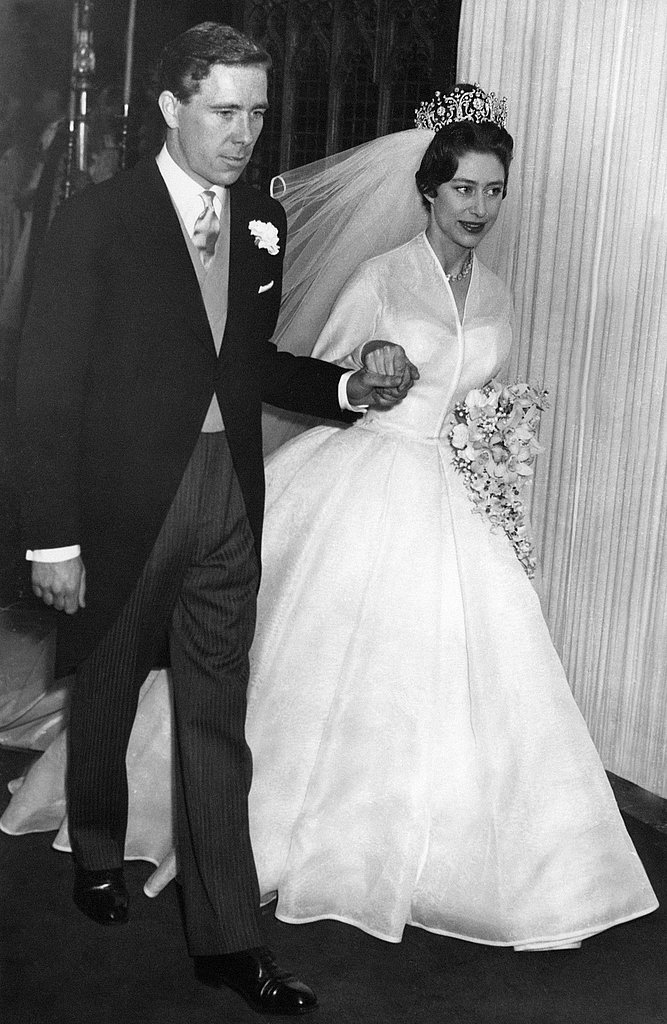 Princess Margaret left Westminster Abbey hand in hand with her new husband, photographer Antony Armstrong-Jones.