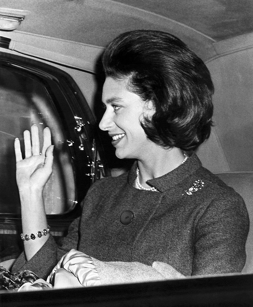 The princess waved from her car in London in 1962.