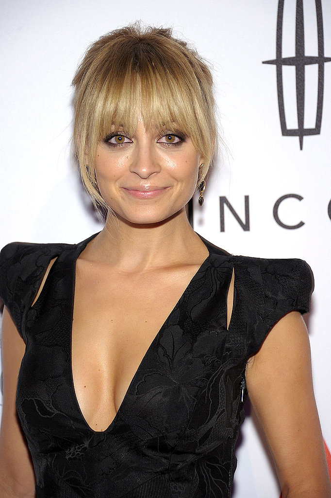 Nicole Richie tied her hair up for an awards show in NYC.