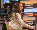 Katie Holmes was all smiles on the morning show.