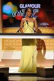 Kerry Washington spoke at a Glamour awards show.