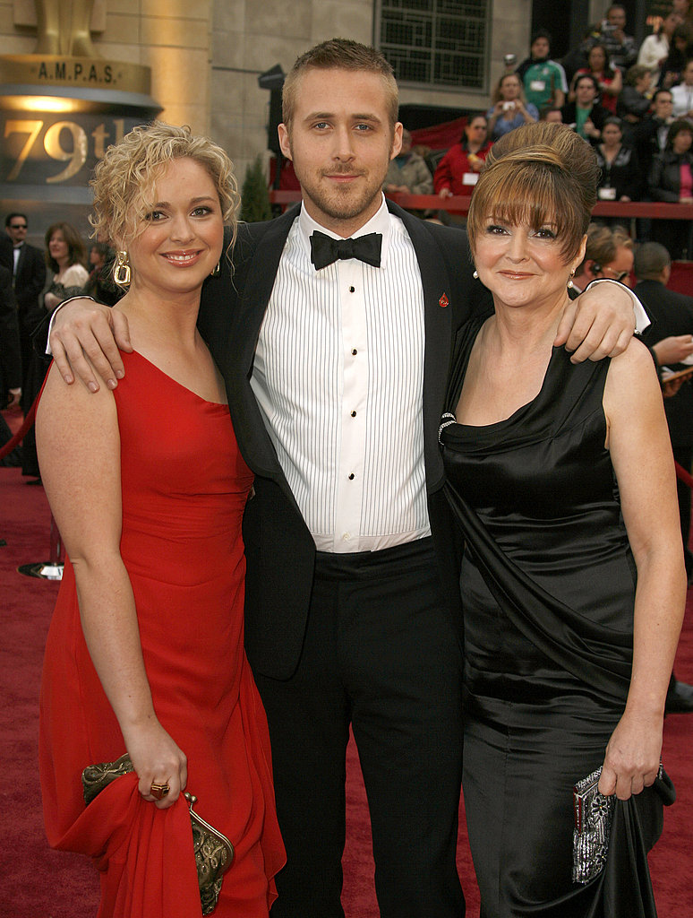Ryan looked adorable at the 2007 Oscars, and walked the red carpet with his sister, Mandi and mom, Donna on his arms.