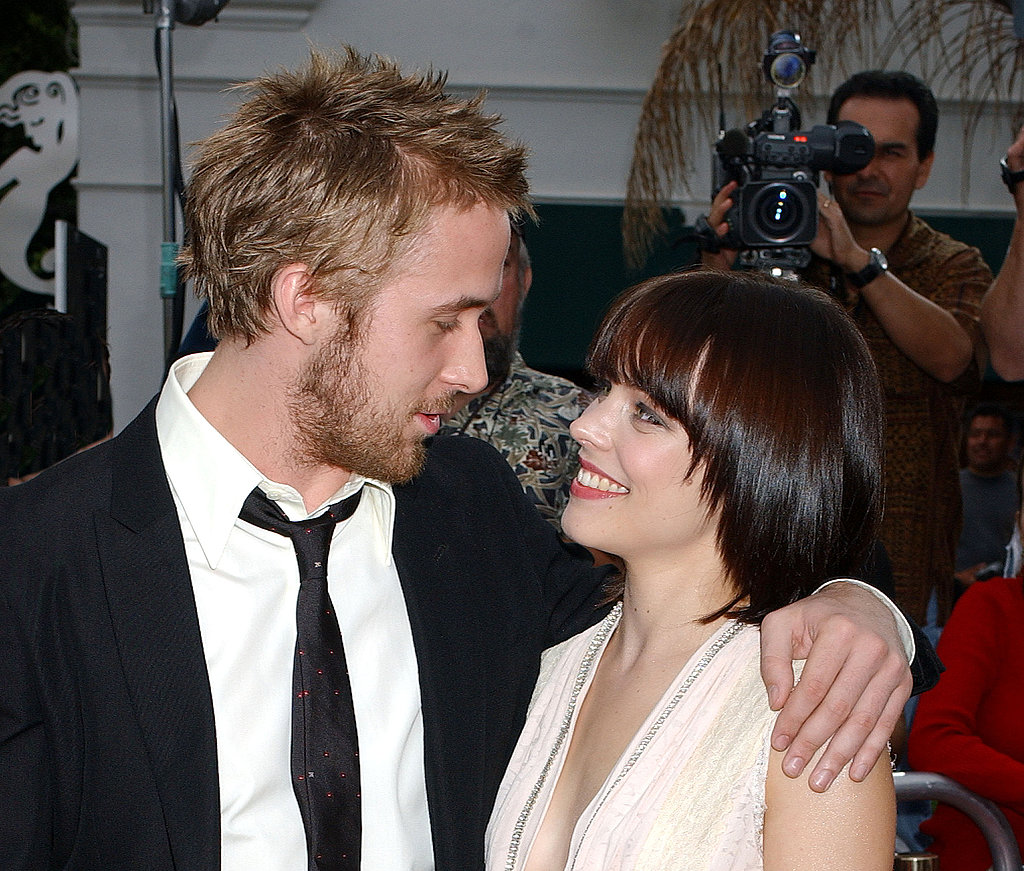 Ryan and then-girlfriend Rachel McAdams shared loving stares at the premiere of The Notebook in 2004.
