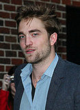 Robert Pattinson arrived at The Late Show studios in NYC.