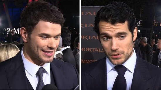 "Video: Henry Cavill and Kellan Lutz Reveal ""Eight Pack"" Secrets and Talk Superman at the Immortals Premiere!"
