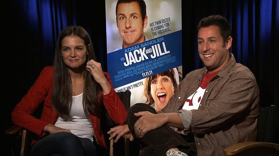 "Adam Sandler Says He Did ""Shirtless Things"" to Get Katie Holmes on Board For Jack and Jill"