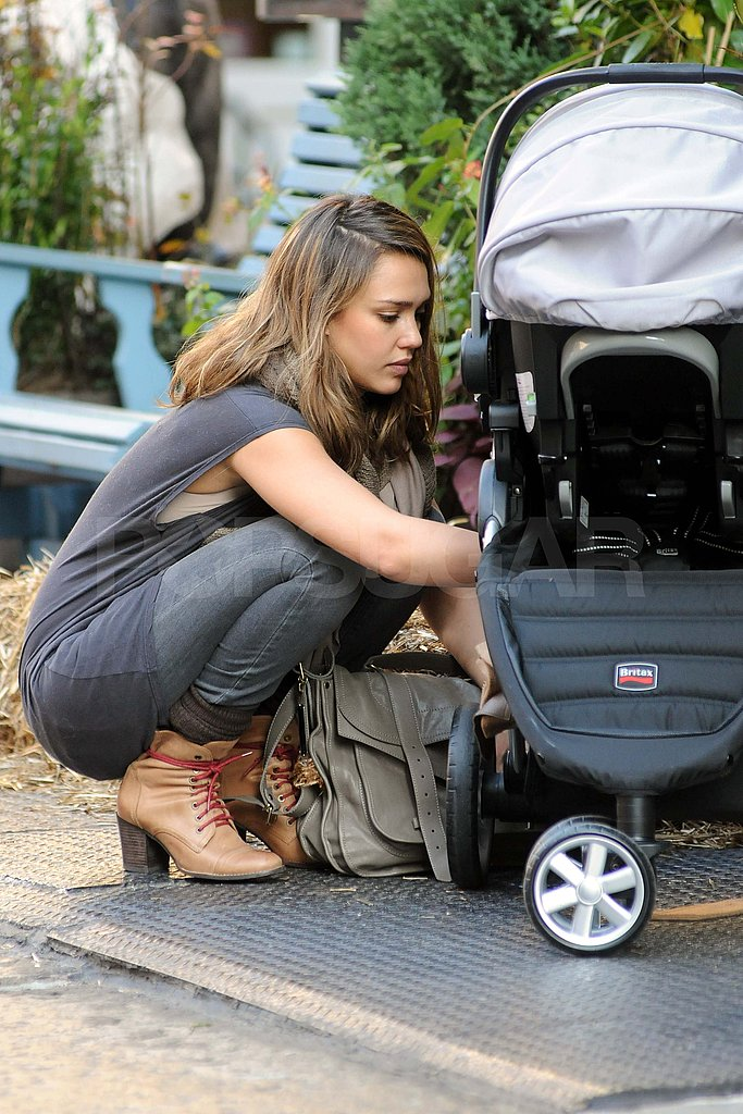 Jessica Alba with baby Haven in NYC.