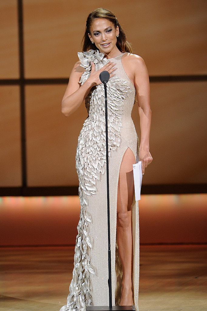 Jennifer Lopez brought a copy of her speech on stage.