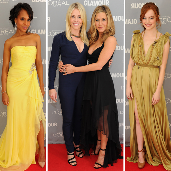 Celebs Sparkle — and Show Some Leg — at the Glamour Women of the Year Awards