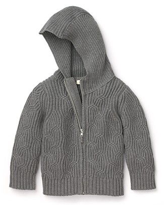 Infant Boys' Hooded Cableknit Sweater ($50)