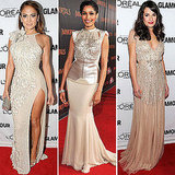 Trendy Champagne Dresses on Celebrities