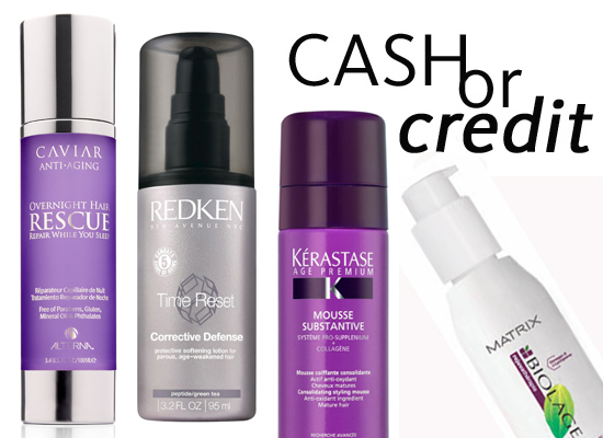 Cash or Credit: Anti-Ageing Hair Products