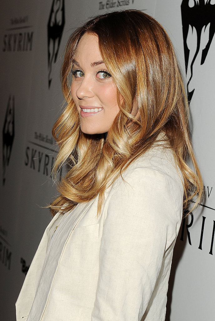 LC showed off her perfectly curled locks.