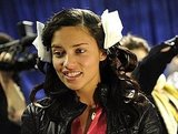 Adriana Lima had her hair clipped up before the Victoria's Secret Fashion Show.