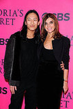 Alexander Wang and Carine Roitfeld at the 2011 Victoria's Secret Fashion Show.