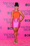 LaLa Vasquez in bright colors at the 2011 Victoria's Secret Fashion Show.