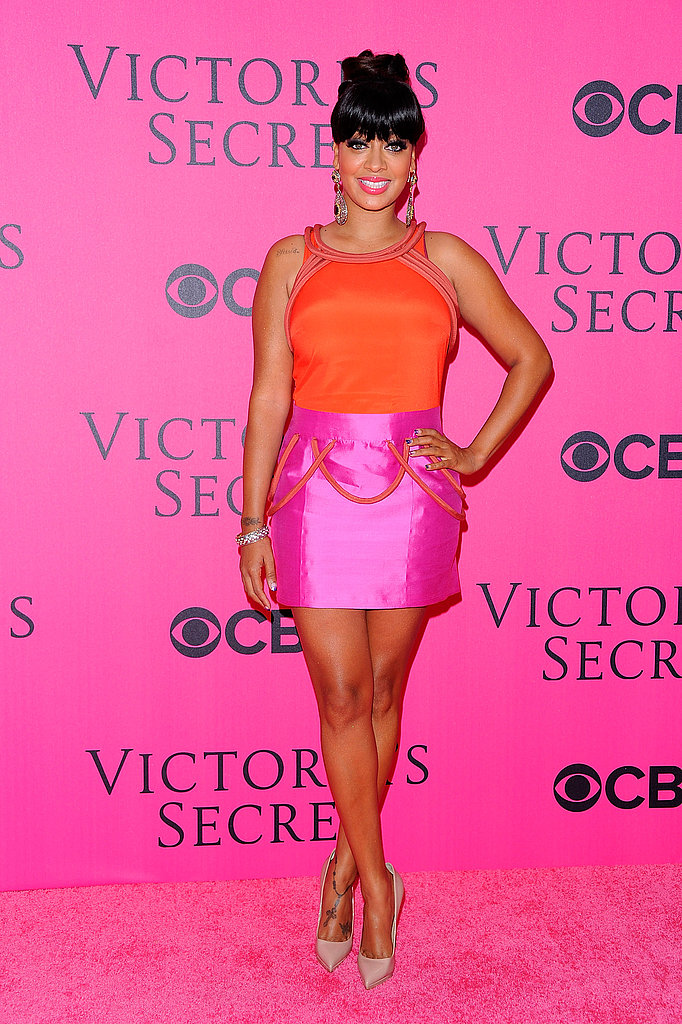 LaLa Vasquez in bright colors at the 2011 Victoria's Secret Fashion Show.
