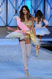 Chanel Iman in thigh-highs at the 2011 Victoria's Secret Fashion Show.