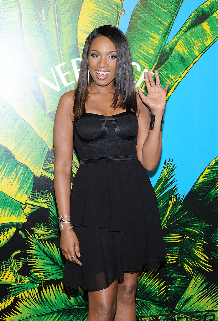 Jennifer Hudson hit the red carpet for Versace for H&M.