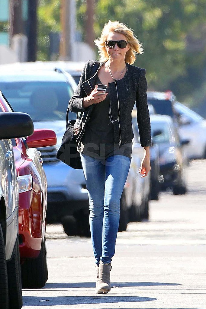 Cameron Diaz in LA with shorter hair.