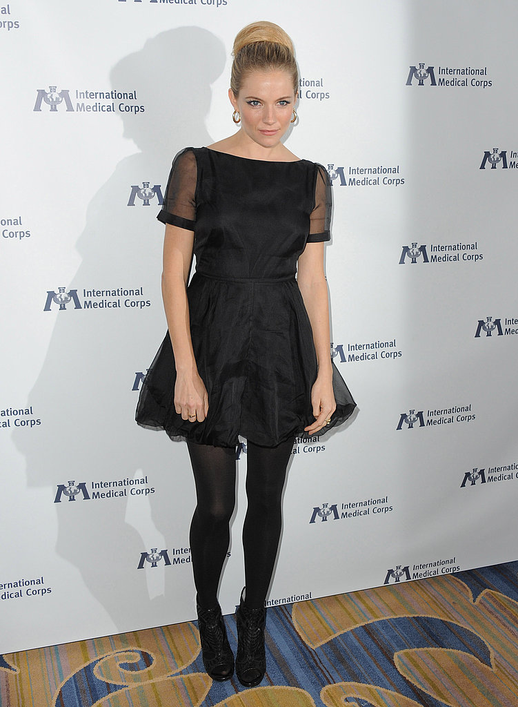 Sienna Miller at the Four Season hotel in LA.