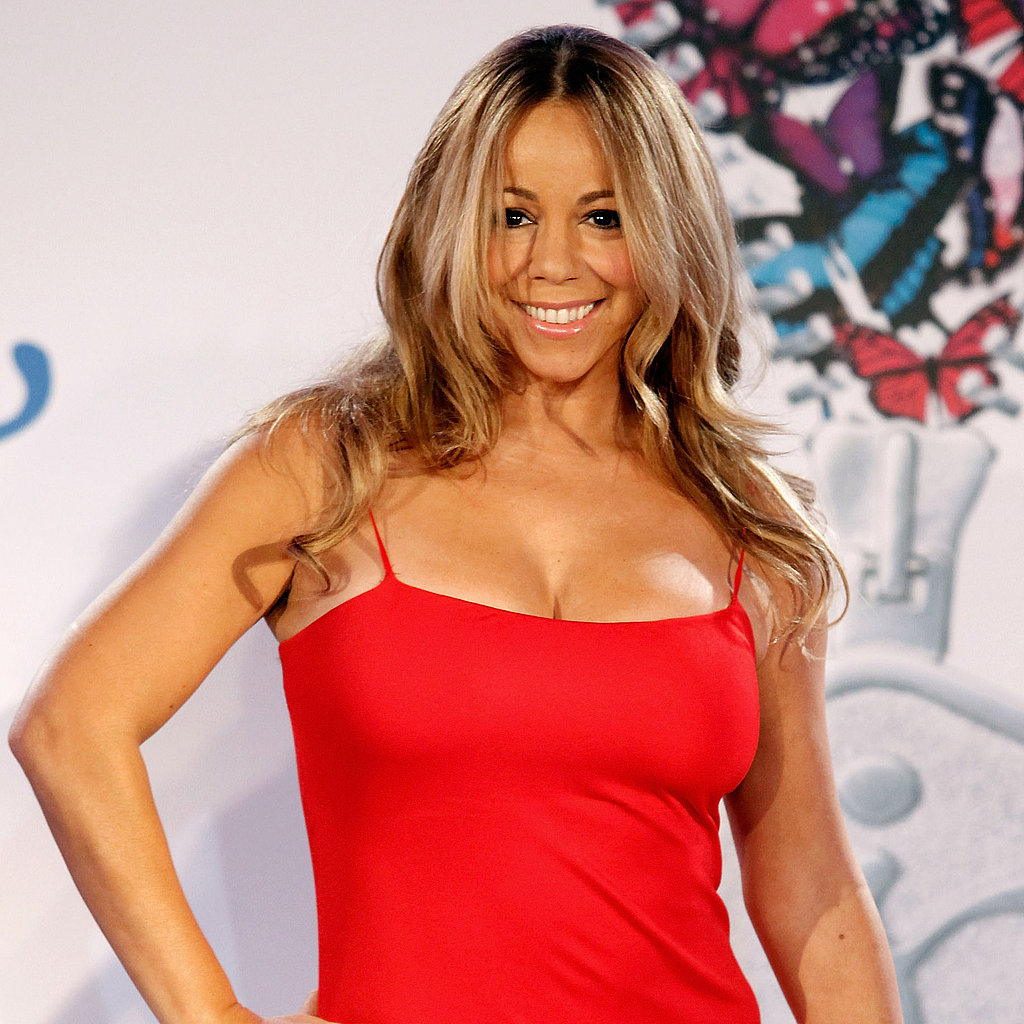 Mariah Carey in Red Dress at Jenny Craig Event Pictures