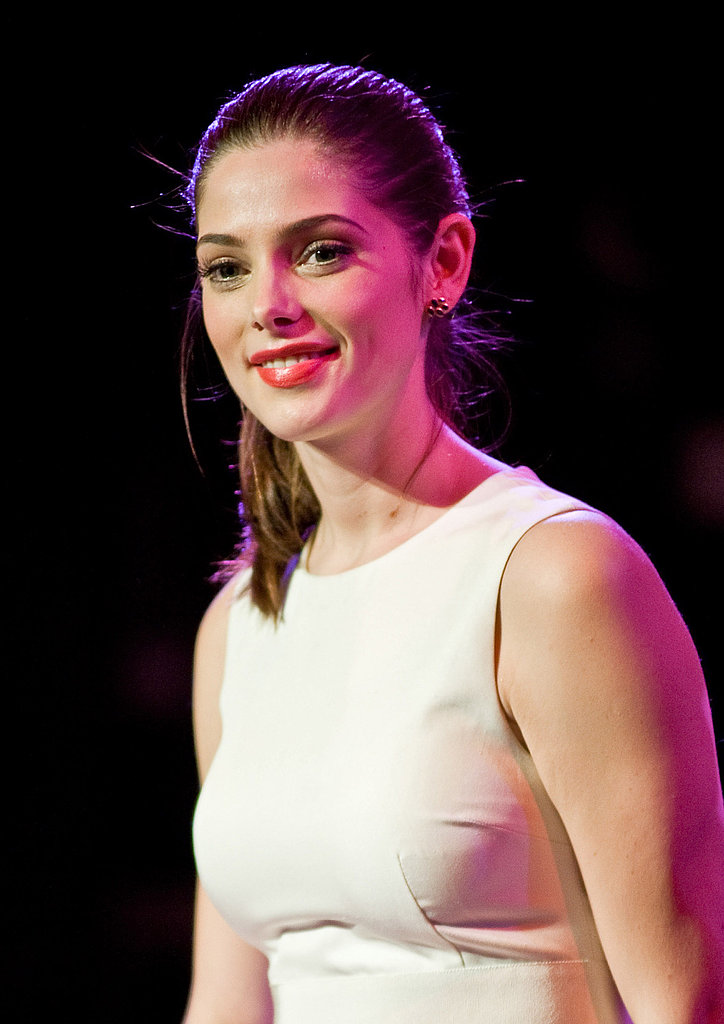 Ashley Greene wore white on stage.