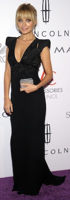 Nicole Richie in Black Antonio Berardi Gown, House of Harlow