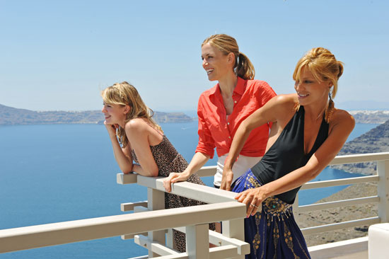 The gals set up camp at the Blue Palace Resort and Spa in Crete.  Photo courtesy of The CW