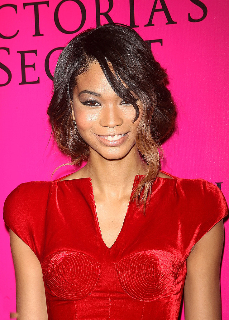 Chanel Iman looked flawless in red.