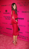 Jacquelyn Jablonski gave a back-side view of her red dress.