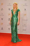 Gwyneth Paltrow in green at the 2011 Bambi Awards.
