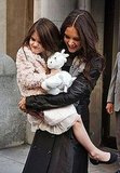 Katie and Suri stuck close in the Big Apple.