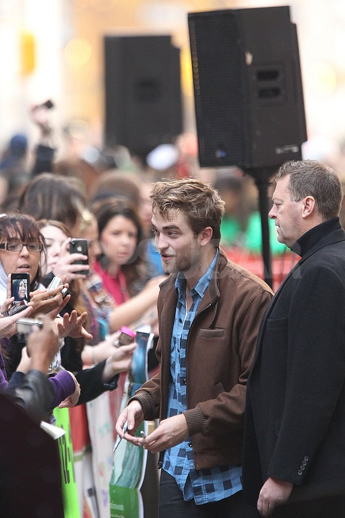 Robert Pattinson had a big supporting audience at The Today Show.