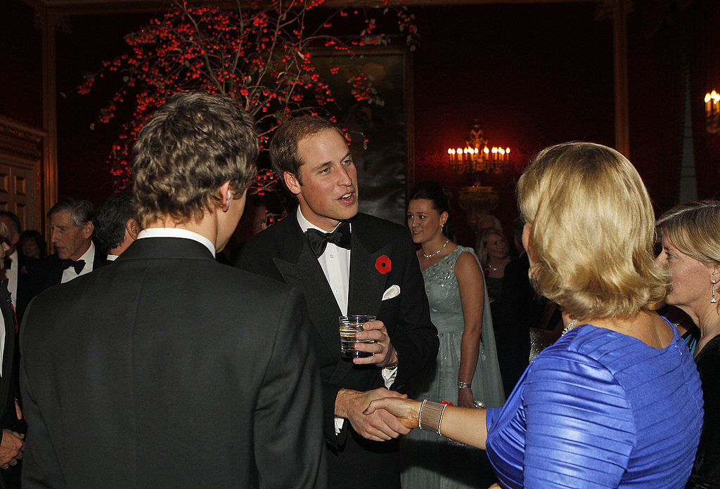 Prince William with guests at St. James Palace.