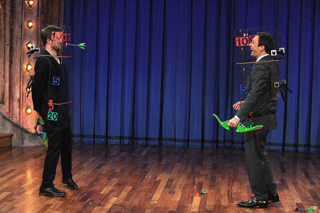 Jim challenged Rob to a real-life duel.