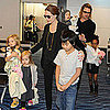 Jolie-Pitt Pictures at Airport in Tokyo