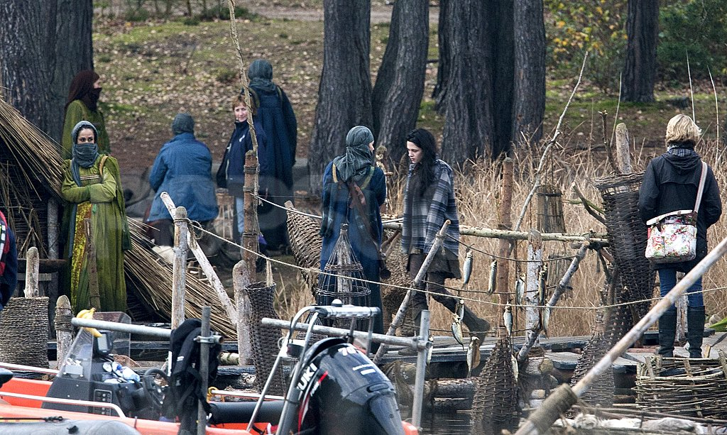 Kristen Stewart hung out between scenes.