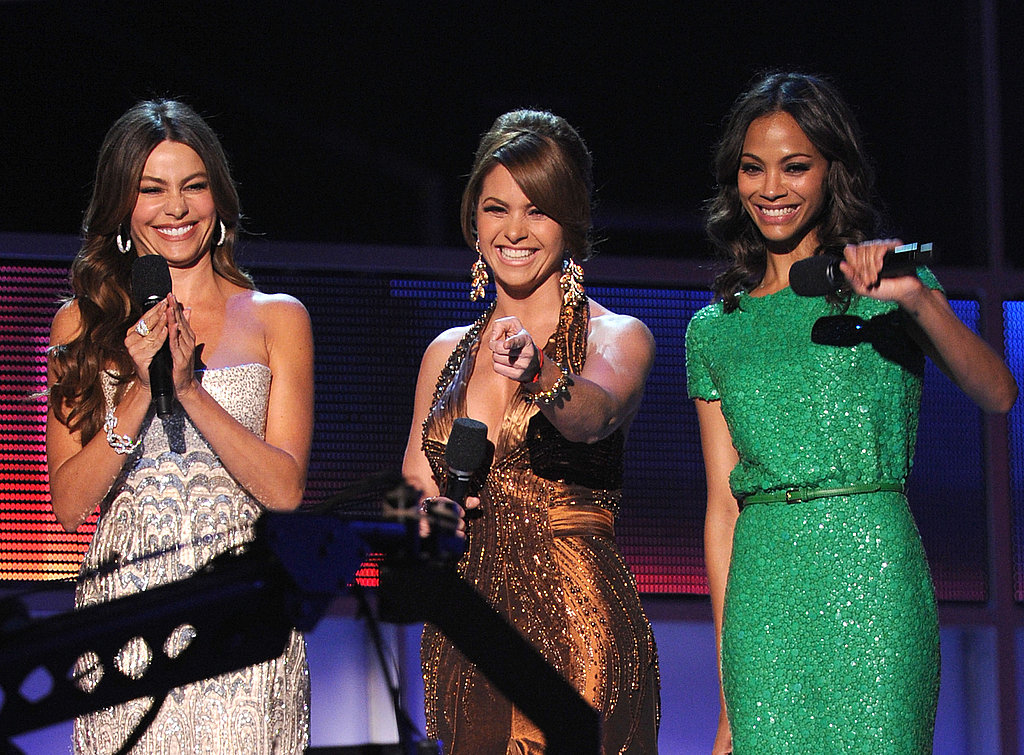 Sofia Vergara, Zoe Saldana and Lucero laughed together at the 2011 Latin Grammy Awards.